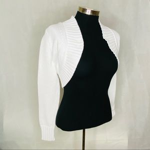 Lilly Pulitzer Bolero Jacket White Sweater New M